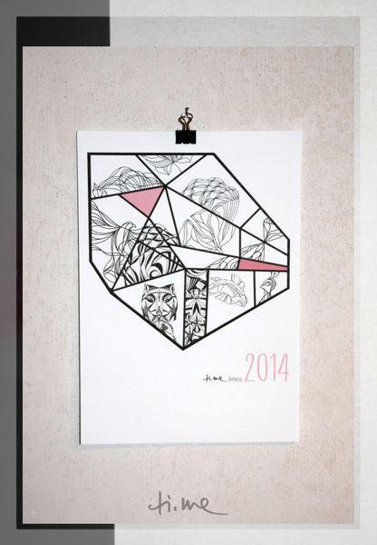 "KALENDER ""ti.me lines"" 2014_ DIN A 5 von ti.me design auf DaWanda.com"