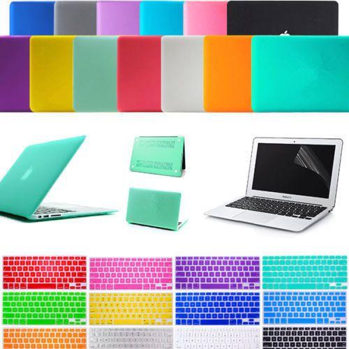 Rubberized Matt Hard Case Skin Keyboard Cover for Macbook Air Pro 11 12 13 15
