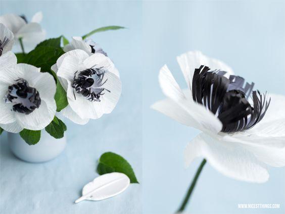 diy papierblumen anemonen aus krepppapier hand made flowers 2 pinterest basteln suche. Black Bedroom Furniture Sets. Home Design Ideas