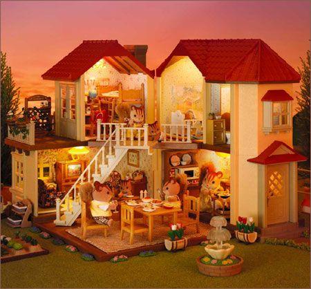 Sylvanian Families... eu nunca tinha querido ter uma casa de boneca... até conhecer estas... http://www.sylvanianfamilies.com/: