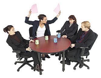CONFLICTO: puede ser positivo o negativo, pero siempre se tiene que saber manejar para que no entorpezca el trabajo.
