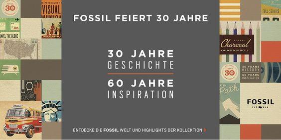 Fossil feiert Jubiläum. Bei uns im Shop finden Sie aktuelle Armbanduhren im typischen Vintage-Look. http://www.uhrcenter.de/uhren/fossil/ #fossil #Uhren #uhrcenter