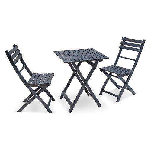2 Sitzer Balkonset Doctor Garten Living Farbe Gestell Grau