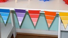 Paint Swatch Banner - http://www.pbs.org/parents/birthday-parties/art-birthday-party/decorations/paint-swatch-banner/