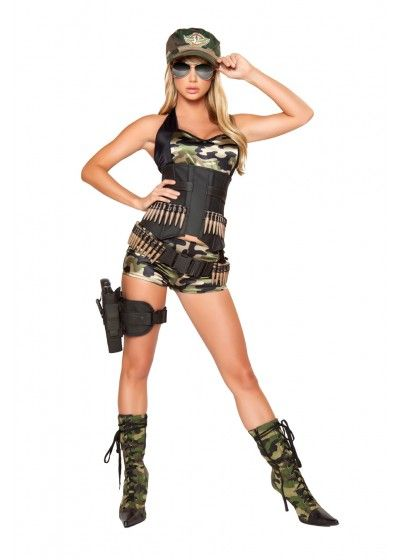 free shipping buy 5pc army babe costume includes shorts bra top waist cincher - Free Halloween Costume Catalogs