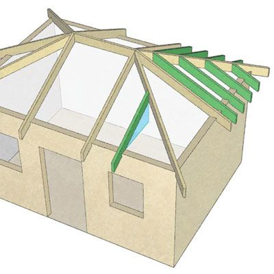Large wide roof overhangs timberframe design timber for Hip roof design