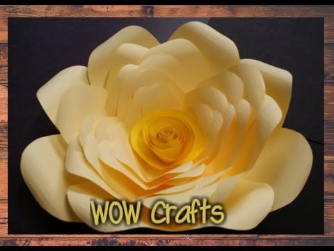 عمل وردة بالورق الملون How To Make A Paper Flower Youtube Paper Crafts Origami Crafts Paper Crafts