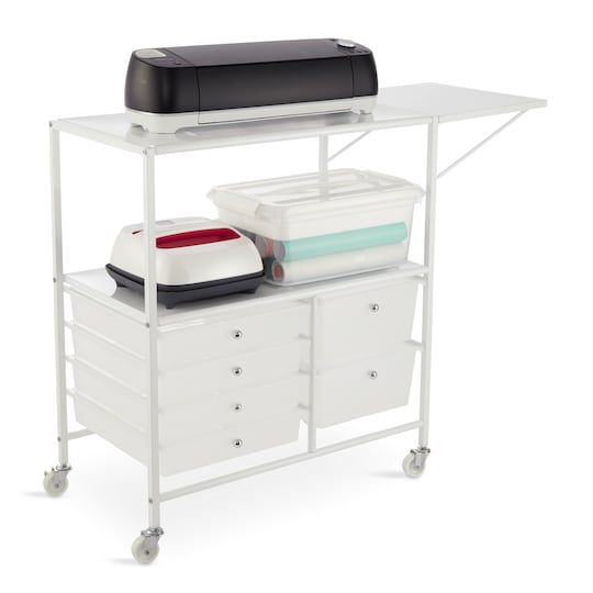 Essex Rolling Cart By Recollections Cricut Storage Craft Cart Cricut Craft Room