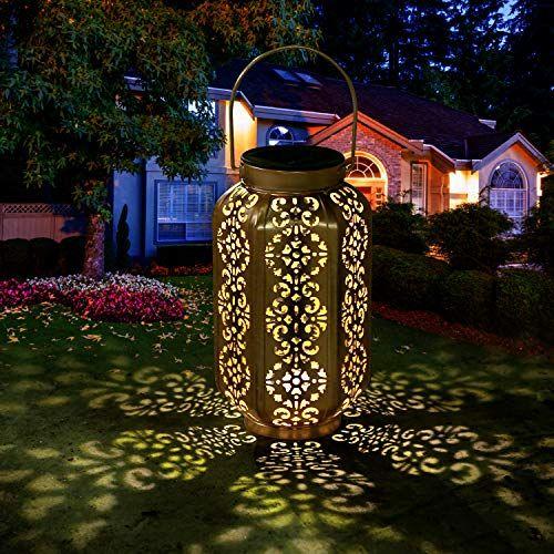 Lanterne Solaire Exterieur Led Lampe Solaire De Jardin Etanche Lumiere De Jardin Solaire Accrochant Eclairage Metal Hexagonale Lampes Decorative In 2020 New Salem Salem