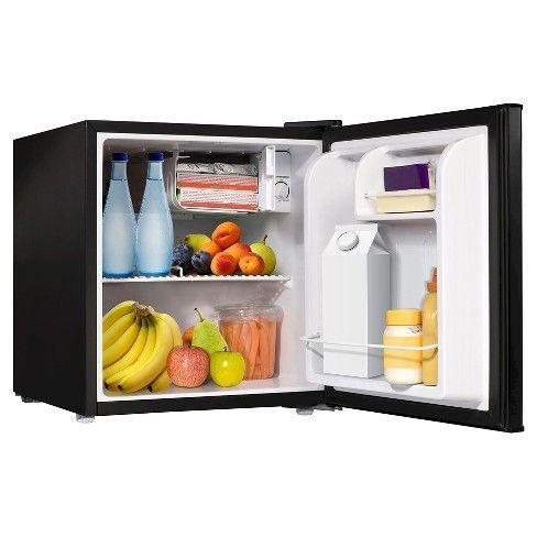 Sunbeam 1 7 Cu Ft Mini Refrigerator Black Refsb17b Mini Fridge Compact Refrigerator Refrigerator Dimensions