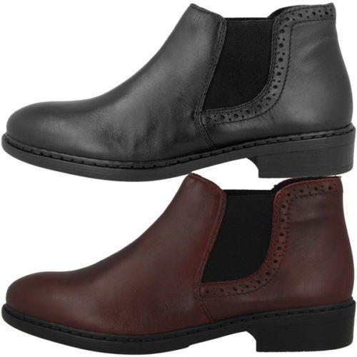 Rieker Brown Zipper Detailed Flat Chelsea Ankle Boot