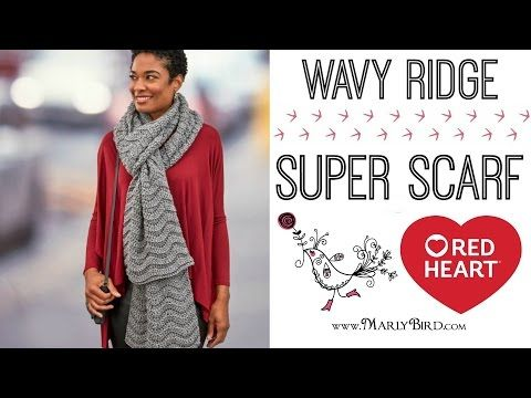 How to Crochet the Wavy Ridge Super Scarf | Red Heart