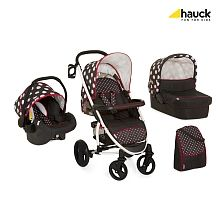 Hauck- Kinderwagenset Malibu XL All in One, Dots/Black