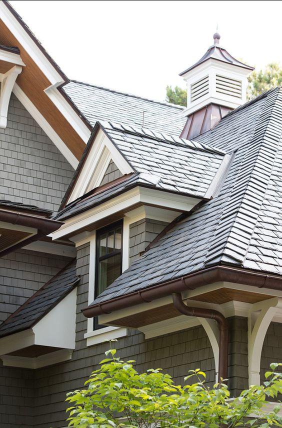 Roof Ideas. Beautiful Slate Shingles #Roof Ideas!