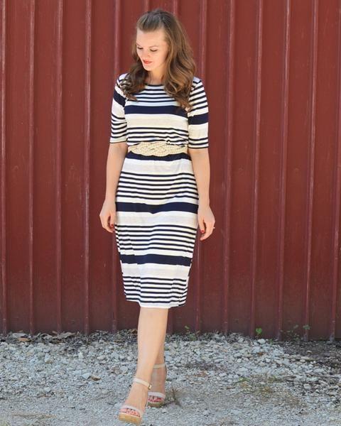 Marina Navy Stripe Dress