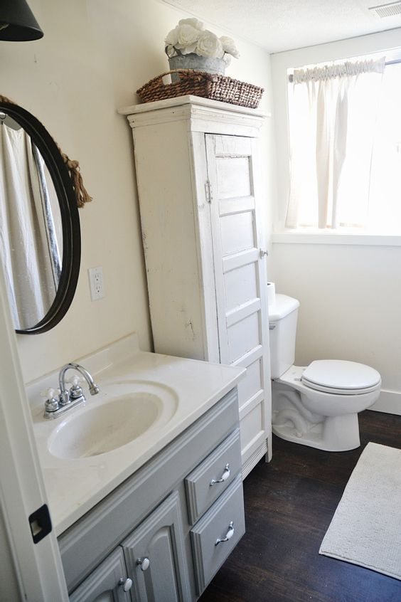 Spring makeover with lowes cabinet ideas lowes and linens for Spring bathroom ideas