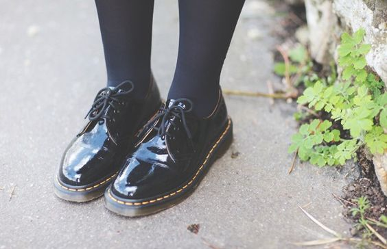 dr martens 1461 with tights - Google Search