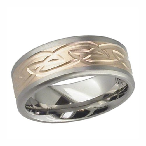 Trending Welsh Dragon U Celtic Knot Wedding Ring Titanium Made In The UK By
