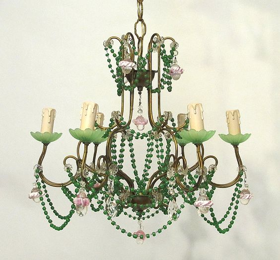 Whimsical vintage italian beaded chandelier my shop paris hotel whimsical vintage italian beaded chandelier mozeypictures Images