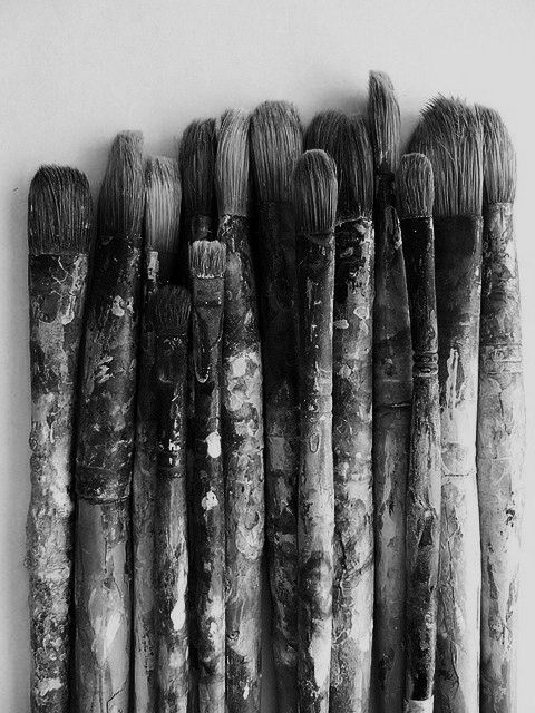 black and white painting brushes | Photography | Pinterest ...