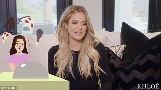 Pizza and chicken: Khloe said she would have preferred pizza or fried chicken for the 16th birthday