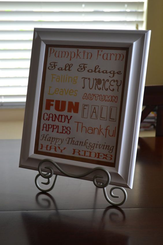Thanksgiving Fall PRINTABLE by Dreamwithmesigns on Etsy, $5.00