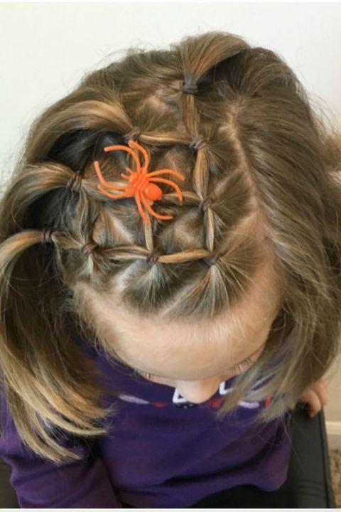 8 Fun And Festive Halloween Hair Ideas For Kids Hair Styles Wacky Hair Kids Hairstyles