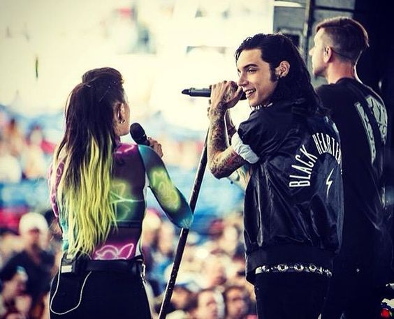 Andy and Juliet performing at Warped Tour 2015