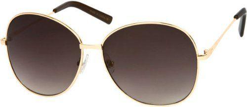 Glossy Gold Frame with Dark Grey Lenses Rachel Zoe Inspired Sunglasses TH. $16.95. Save 13%!