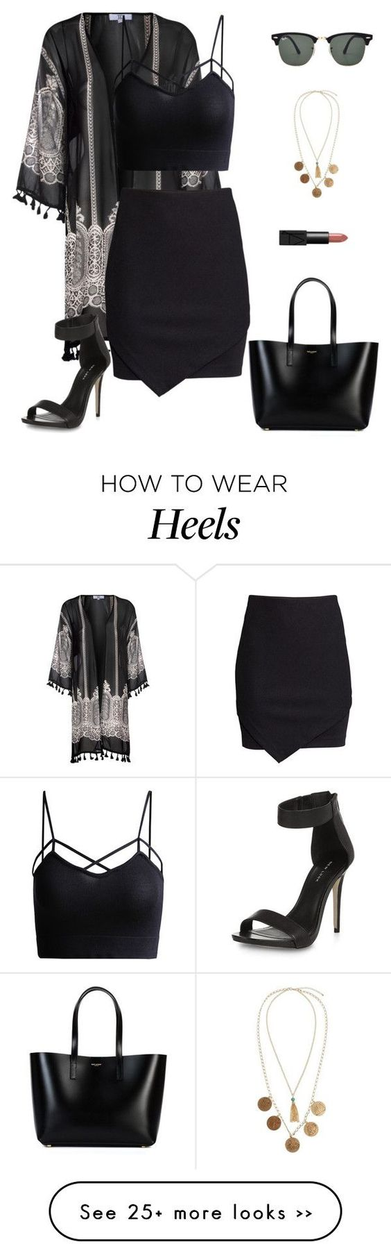"""""""Untitled #677"""" by patrisha175 on Polyvore featuring True Decadence, H&M, Yves Saint Laurent, NARS Cosmetics, ASOS and Ray-Ban"""