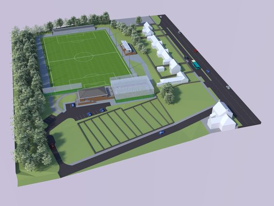 Milbank Architects have designed proposals for a new Club House and artificial sports pitch for Chester le Street Town F.C.