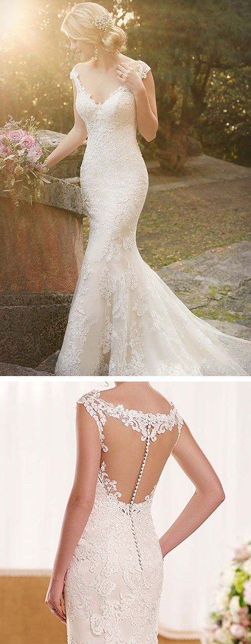 Lace Dress with Detailed Back: