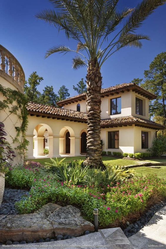 Modern mediterranean by jauregui architecture interiors Mediterranean style homes houston