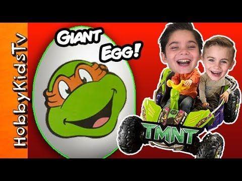 Hobbykids Open A Giant Tmnt Surprisetoy Egg Youtube Tmnt Teenage Mutant Ninja Turtles Teenage Mutant Ninja