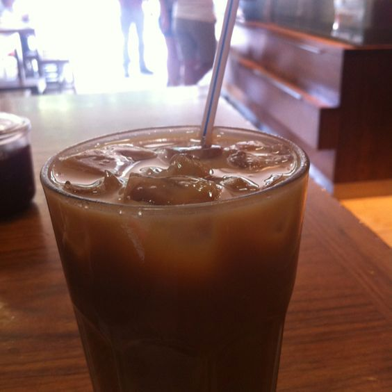 A rare (for me) iced latte.