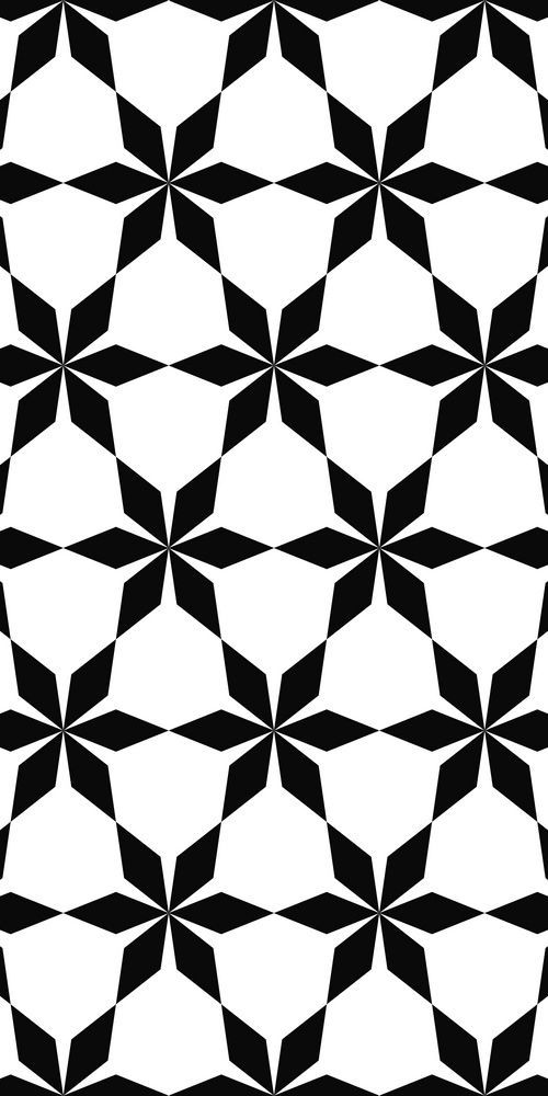 Simple Seamless Floral Pattern White Flowers On A Black