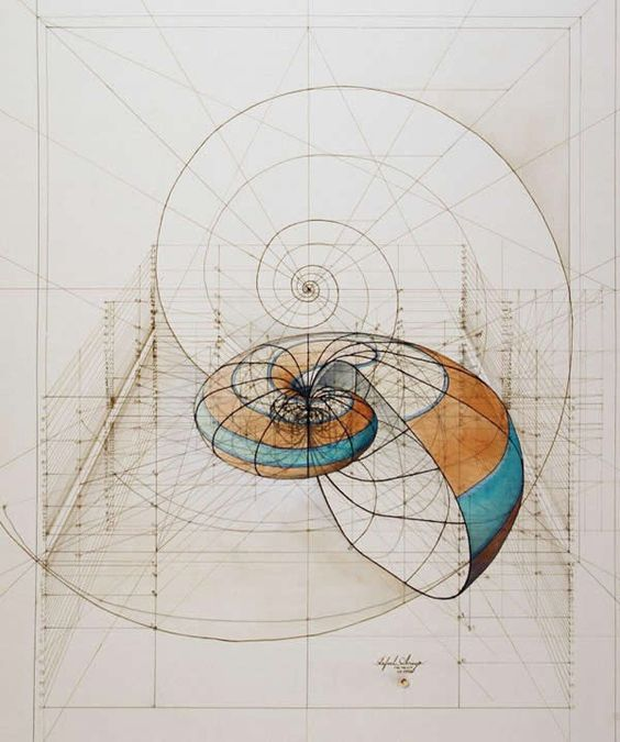 Obras de Rafael Araujo, Venezuelan artist - here you see use of Fibonacci series.