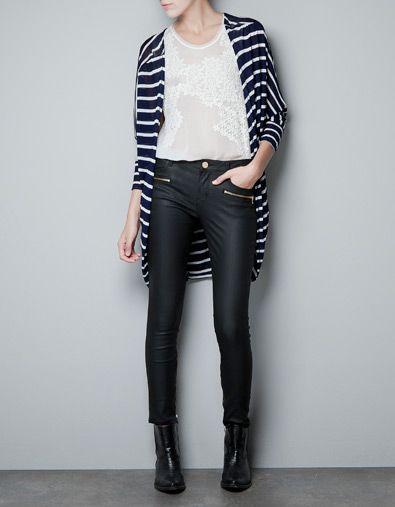 STRIPED JACKET - Knitwear - Woman - ZARA