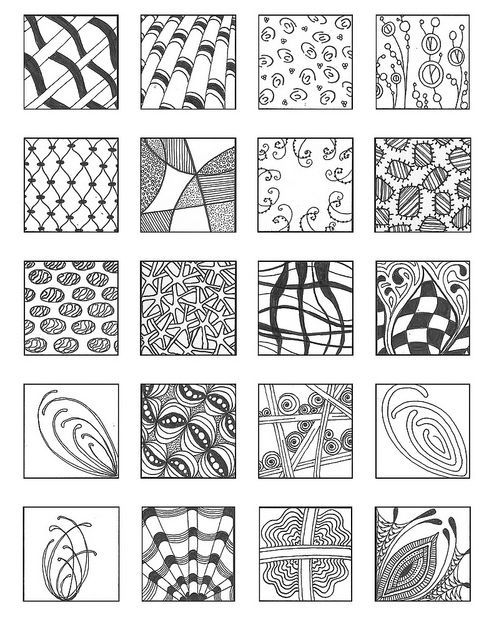 Zentangle patterns for beginners bing images artsy for Drawing patterns for beginners
