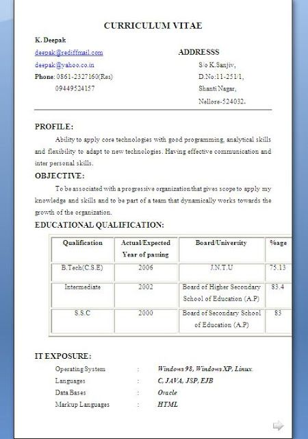 Sales Associate Resume Sample Excellent Curriculum Vitae   CV - computer science resume sample