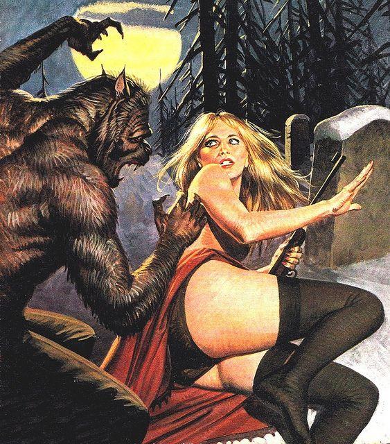 Italian pulp horror illustration