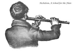 """""""A School for the Flute"""" by Charles Nicholson, published in 1836, addresses fundamentals of music, flute-playing technique, and information on style and performance in the 19th century."""