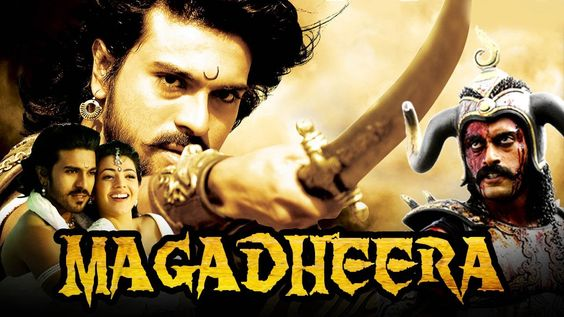 hindi dubbed movies of ramcharan - magadheera poster