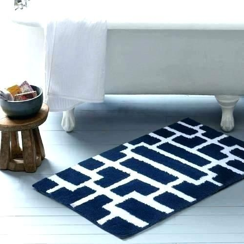Aqua Bathroom Rugs