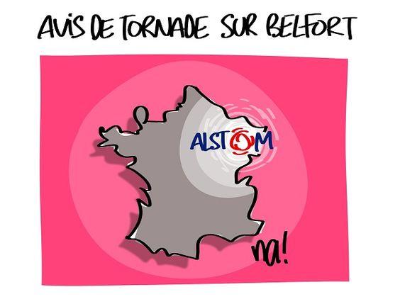 Na! (2016-09-14) alerte_meteo....Alors que la fin de l'été arrive à grand coup d'alertes orange et orage, c'est un autre genre de tornade déclenchée par Alstom via le projet de fermeture de son site de Belfort.