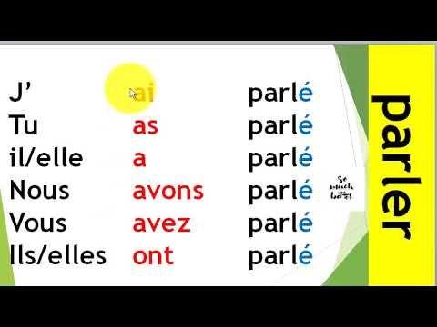 Conjugaison 10 Les Verbes Du 1er Groupe Au Passe Compose الماضي المركب Youtube Youtube Education Compose