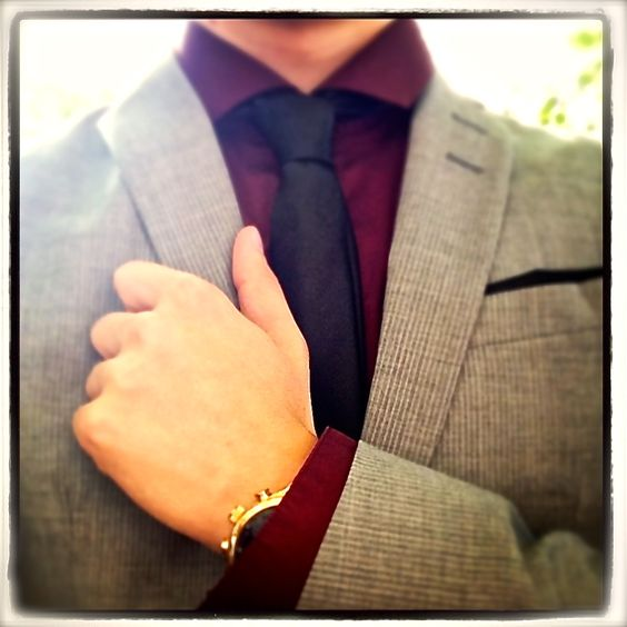grey suit black tie maroon shirt prom pinterest