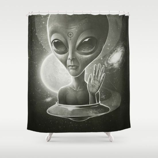 Buy Shower Curtains Featuring Alien Ii By Dr Lukas Brezak Made