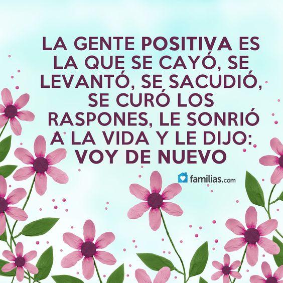 Sé una persona positiva