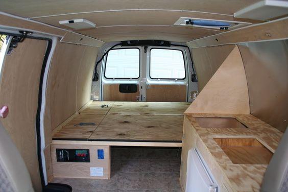 interior of converted camper van | 97 Chevy Van Project • Class B RV and Camper Van Discussion Forum